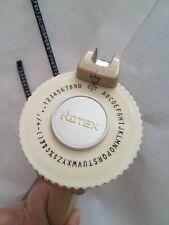 Rotex Label Maker Model 48e Beige Handheld Rotary Tape 14 Inch63 Mm Works