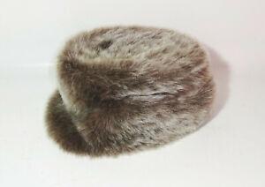 DDR Pelliccia Misura MG 58 Vintage Cappello Invernale VEB Elstermode Elsterwerda