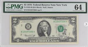 FR# 1935 $2 1976   NEW YORK  ( BA BLOCK) NEFF/SIMON