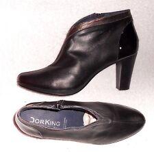 DORKING low boots zippés cuir noir  P 40 = 39 TBE
