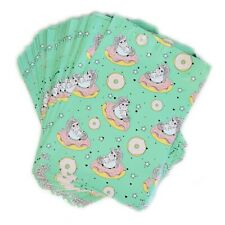 100 designer poly mailers 10x13 in Unicorns on Doughnuts lightweight cute funny