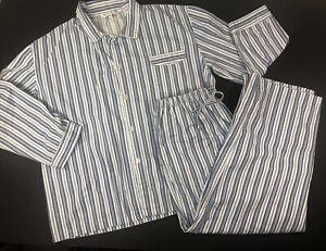 Alexander Del Rossa XL Mens Sleepwear Pajamas Long Sleeve Blue Stripe Palm Coast