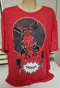 LOOT CRATE EXTRA LARGE SIZE SHIRT XXXL AWESOME! MARVEL DEADPOOL TACOS TEE!3XL