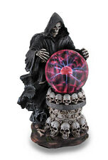 Zeckos Destroyer of Worlds Grim Reaper Plasma Crystal Ball Accent Lamp