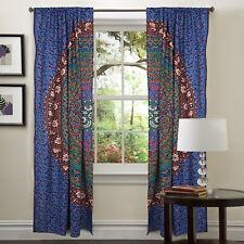 Indian Mandala Floral Door Window Curtain Cotton Drape Panel Valances Curtains