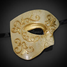 Phantom of the Opera Mask - Gold Lining Venetian Masquerade Mask for Men