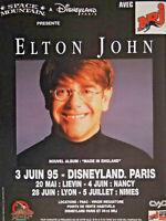 PUBLICITÉ DE PRESSE 1995 RADIO NRJ PRÉSENTE ELTON JOHN A DISNEYLAND PARIS 1995