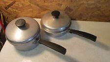 Vintage Montgomery Wards Waterless Aluminum Cookware Sauce Pans & Lids