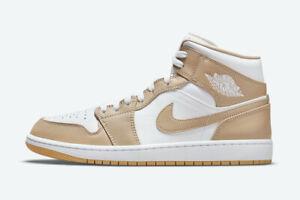 "New Air Jordan 1 Mid ""Tan Gum"" Casual Basketball Shoe Sz 10 554724-271 Limited"