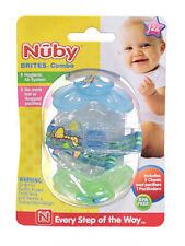 """Nuby """"Brites"""" 2-Pack Pacifiers (12M+)"""