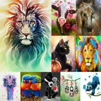 5D DIY Full Drill Square Diamond Painting Colorful Animal Cross Stitch Decor Kit