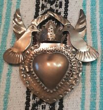 Mexican Tin Niche Doves/ Mexican tin decoration