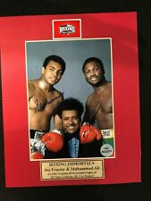 Hand Signed/Autographed Muhammad Ali and Joe Frazier Photo/Picture with COA