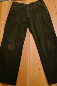 Remus Uomo Brown Needle Cord Trousers Size 36 R Casual