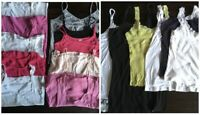 WOMENS Ladies Vest Tops Mixed Job Lot Bundle x16 Used Various Sizes Plain Colors