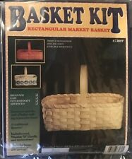 Beginner Rectangle Market Basket Making Kit, Weaving, Supplies, Reed, Pattern