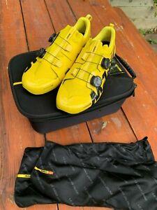 BRAND NEW Mavic Comete Ultimate cycling shoe yellow 44-45eu 10-10.5us 9.5-10uk
