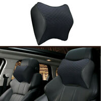 Black Car Seat Headrest Pad Memory Foam Neck Support Cushion Pillow Head Rest