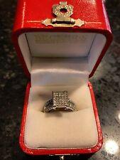 Becker's Diamond Ring - 1.25 Carat 14k White Gold Rectangle Pave Fashion Ring