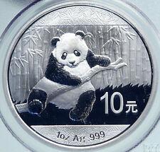 2014 CHINA PANDA Bamboo TEMPLE of HEAVEN Silver 10 Yuan Chinese Coin PCGS i86667