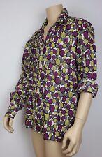 Homme VINTAGE 70 s style disco PRINCE Crazy Dagger Collar Shirt Abstract Festival XL