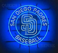 "New San Diego Padres Neon Light Sign 24""x24"" Beer Cave Gift Bar Artwork"