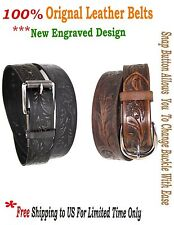 Real Leather Metal Buckle Belt Snap Button 1 Piece Leather harness Strength