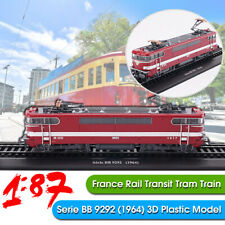 1:87 France Rail Transit Tram Train Serie bb 9292 (1964) 3D Locomotive Model 🔥