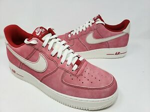 Nike Air Force 1 Low Dusty Red Suede Mens Size 11.5 Casual Shoes DH0265-600 New