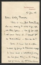 ROBERT BADEN-POWELL - AUTOGRAPHED 4 PAGE LETTER +  ENVELOPE -  27 JANUARY 1906