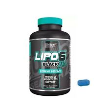 Lipo 6 Black hers extreme potency 120 liquid capsules nutrex fat metaboliser available