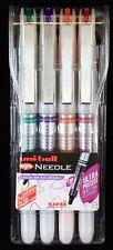 Uni-Ball Uniball EYE Needle UB-187S Roller Ball Pens. Pack of 4 Colours.