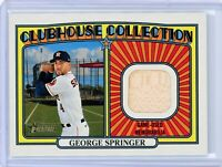 2021 Topps Heritage Clubhouse Collection Relics #CCRGSP GEORGE SPRINGER (Astros)