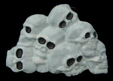Belt Buckle Pewter New! Pyramid Pile Of Skulls