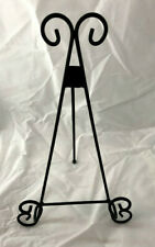 """12"""" Black Iron Decorative Easel - Plate Stand/Cook Book/Picture Holder Display"""
