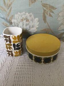 """""""Orla Kiely House"""" Vase Or Pot & Tin"""