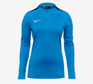 Nike Women's Academy Drill Top Royal Blue Blue/Obsidian Small
