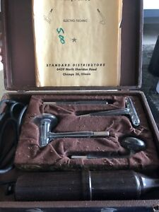 Master Violet Ray Antique Medical Device Complete Kit in old case