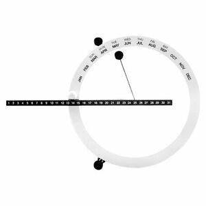 Perpetual Table Calendar Nordic Style Creative Time Manual Desk Home Decorations