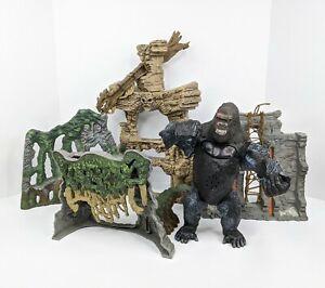 Vintage King Kong Playmates 2005 Skull Island Playset 8th Wonder Of The World