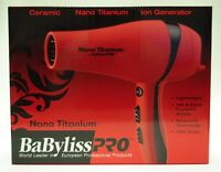 BaByliss PRO Nano Titanium Blow Dryer - Valentine Red [Health and Beauty] NEW