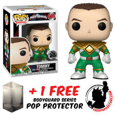 FUNKO POP POWER RANGERS TOMMY GREEN RANGER VINYL FIGURE + FREE POP PROTECTOR