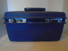 Vintage Samsonite Sentry Blue Train Travel Makeup Case