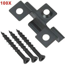 Composite Decking 100 Stainless Clips+ Screw 0.8mm Metal Hidde Fixing Fasteners
