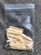 50 Disposable Mini Wood Sample Spatulas Cosmetic Testers Eyebrow Wax Sticks