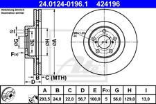 Bremsscheibe (2 Stück) - ATE 24.0124-0196.1
