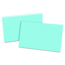 """New listing Oxford Colored Blank Index Cards - 5"""" x 8"""" - Blue Paper - Recycled - 100 / Pack"""