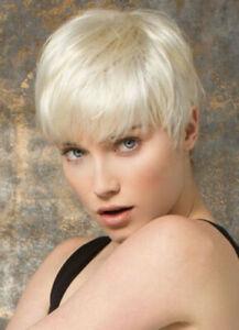 Woman's Wig Short Wig In Boycuts Hair Platinum Blonde Wigs+wig Cap