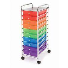 Seville Classics 10 Drawer Cart Multi-Color