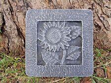 """plaster concrete mold sunflower tile plastic mould 8"""" x 8 x just under 1"""" thick"""